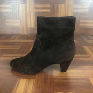 SAM EDELMAN MADDIE Brown Suede Ankle Boots Booties